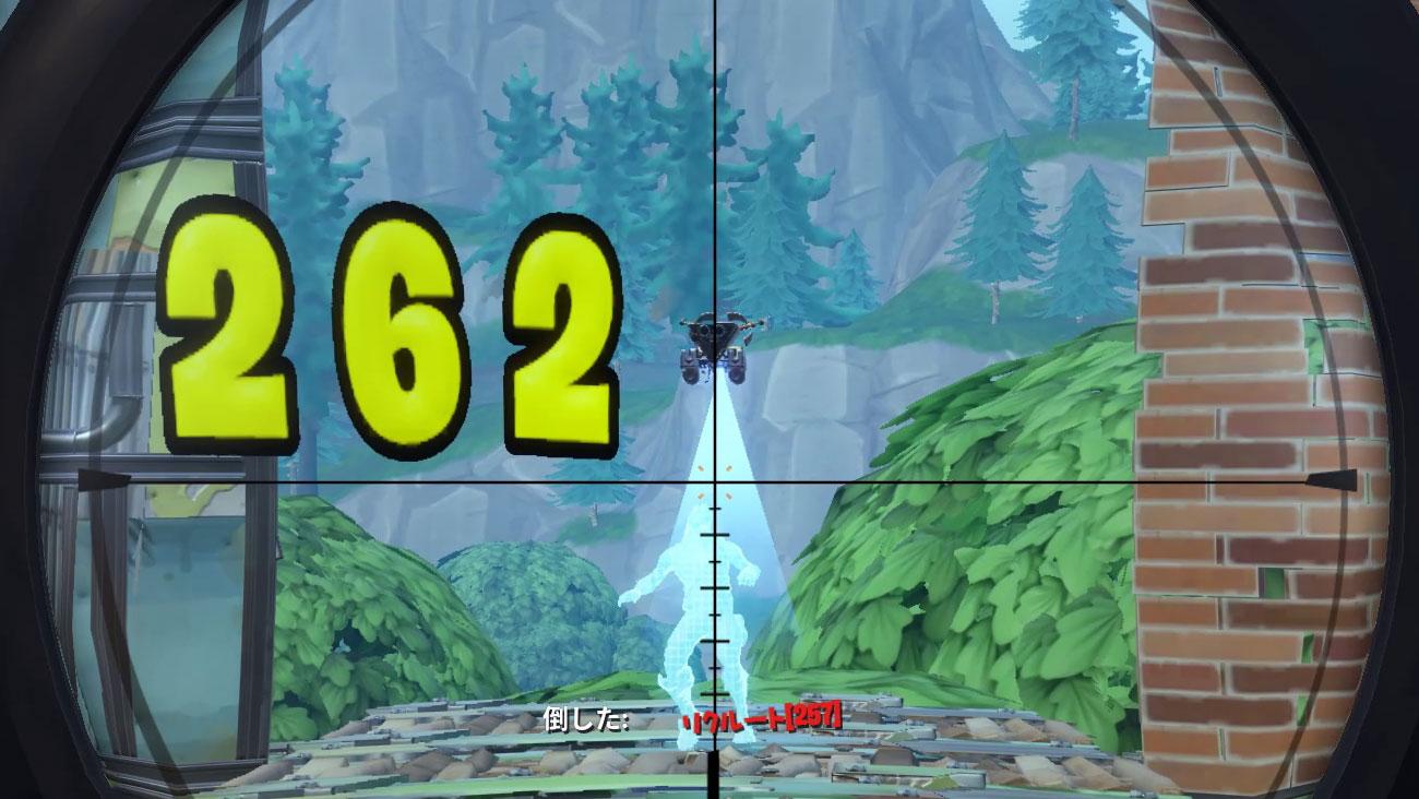 50m(金サイレンサー付きスナイパーライフル)サイレンサー付きスナイパーライフルの性能と使い方【フォートナイト】(バトルロイヤル)