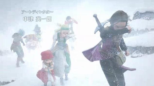 ドラゴンクエスト11PS4オープニング吹雪にも負けない勇者たちご一行