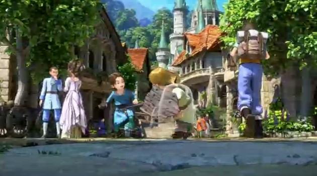 ドラゴンクエスト11PS4ゲームムービーデルカダール王国城下町と精霊