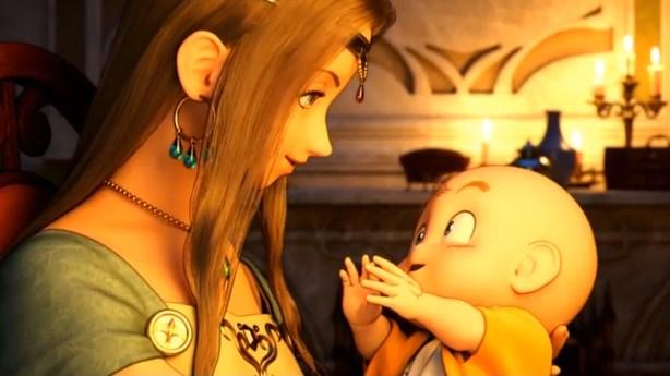 ドラゴンクエスト11PS4ゲームムービーデルカダール王国王妃と勇者赤子