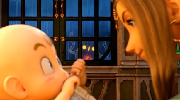 ドラゴンクエスト11PS4ゲームムービーデルカダール王国王妃と勇者赤子と闇精霊覚醒