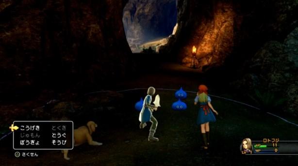 ドラゴンクエスト11PS4ゲームプレイ画面初戦闘