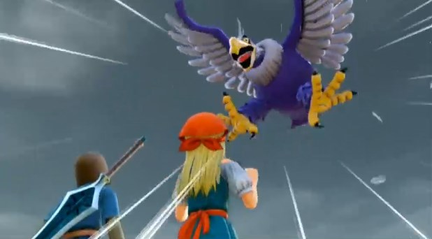 ドラゴンクエスト11PS4ゲームムービー神の岩頂上でヘルコンドルに襲撃されるシーン