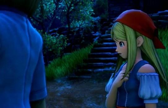 ドラゴンクエスト11PS4ゲームプレイ画面旅立ち前夜のエマかわいい横顔