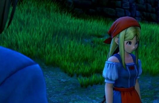 ドラゴンクエスト11PS4ゲームプレイ画面旅立ち前夜のエマ泣きそうな顔