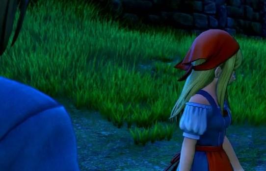 ドラゴンクエスト11PS4ゲームプレイ画面旅立ち前夜のエマ涙を隠しながら