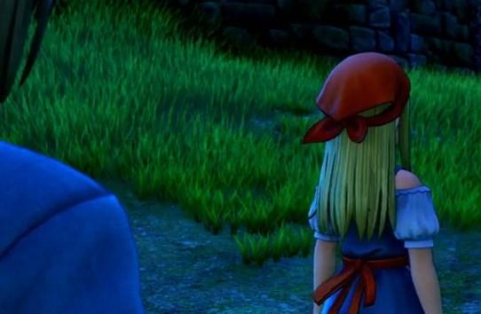 ドラゴンクエスト11PS4ゲームプレイ画面旅立ち前夜のエマ振り向かない