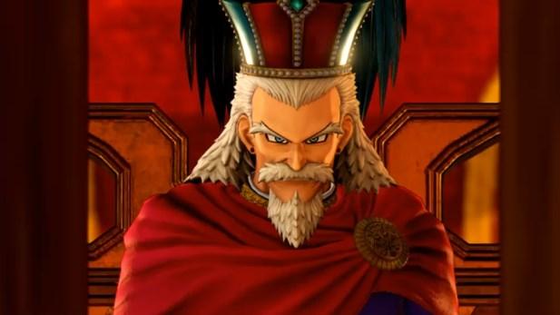 ドラゴンクエスト11PS4ゲームプレイ画面デルカダール王の不敵な笑み