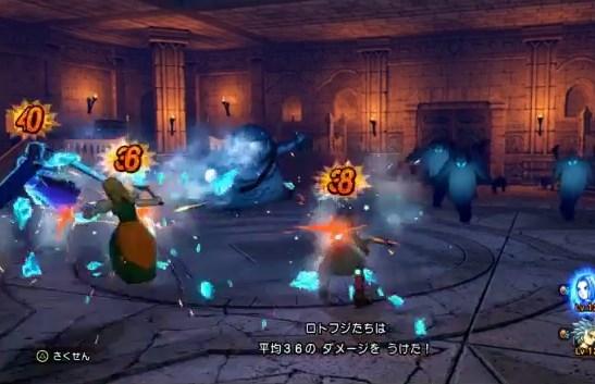 ドラゴンクエスト11PS4ゲームプレイ画面デンダのアジト内部潜入し誘拐犯のデンダ一味と決着をつけるが氷のブレスが痛い