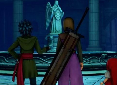 ドラゴンクエスト11PS4ゲームプレイ画面デンダのアジト内部潜入したら女神像があった