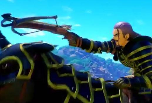 ドラゴンクエスト11PS4ゲームプレイ画面デルカダール脱出劇で旅人のほこら目前でグレイグ将軍にクロスボウで馬を射抜かれる
