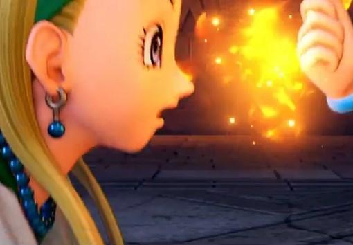 ドラゴンクエスト11PS4ゲームプレイ画面デンダのアジト内部潜入しツボを取り戻したおかげで魔力は復活したベロニカとセーニャのかわいい横顔