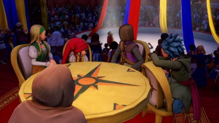 ファーリス王子とサーカス内部で合流しテーブル囲む
