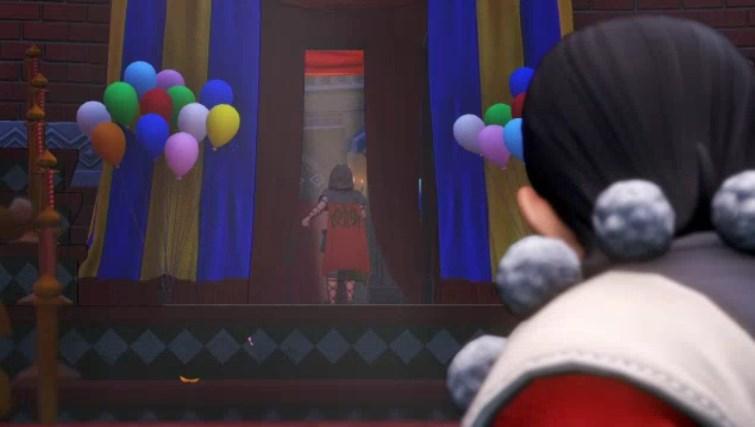 ファーリス王子サーカス劇場内から去る