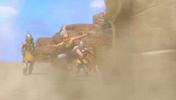 ファーリス王子の砂漠の殺し屋デスコピオン討伐で砂地が盛り上がり突然デスコピオン登場