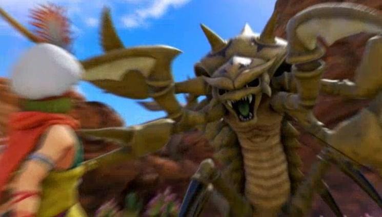 ファーリス王子の砂漠の殺し屋デスコピオン討伐でデスコピオンが襲い掛かろうとしている