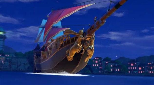 謎の船舶で勇者たちを救出するダーハルーネ戦