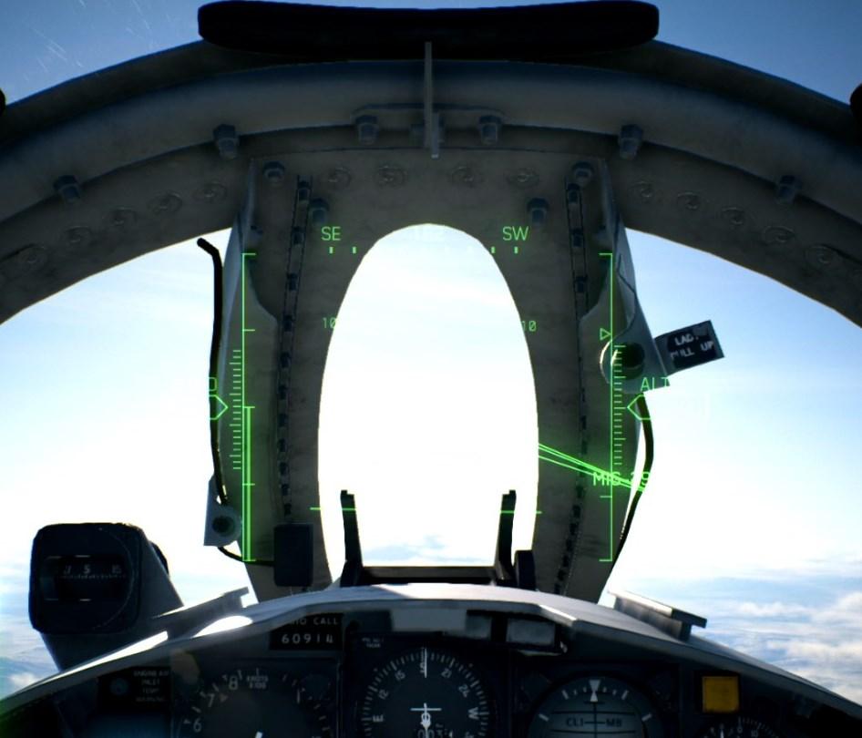 エースコンバットが背景の光がまぶしすぎて画面表示が見えない