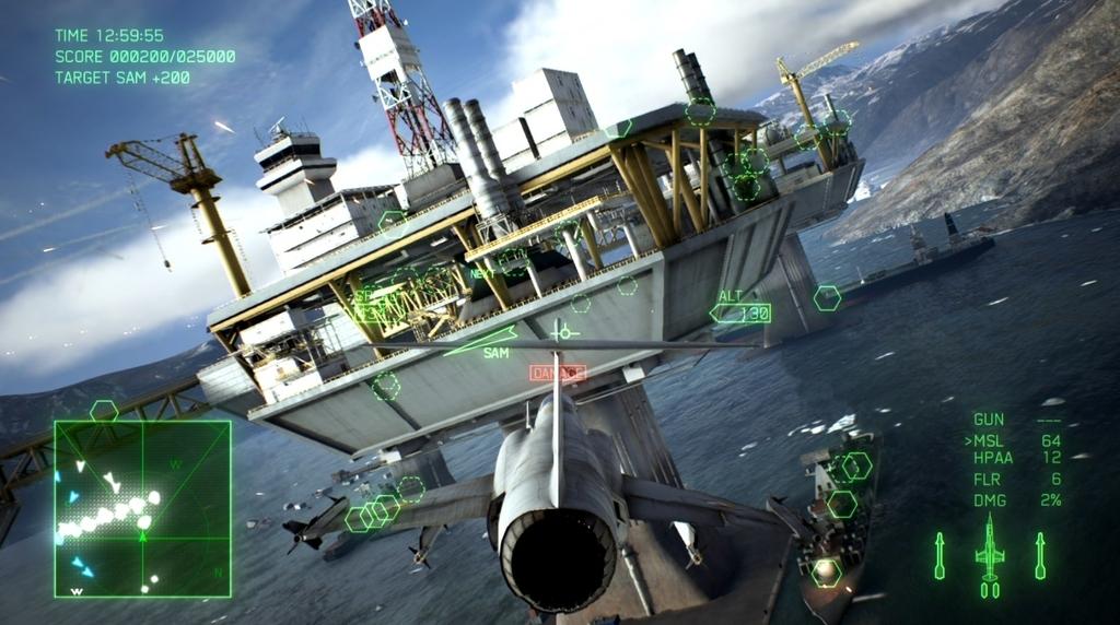 エースコンバット7敵海上プラットフォームのサンドウィッチ構造