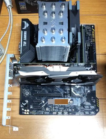 ゲームマスターX無限5revBを採用しマザーボードに取り付けたイメージ画像