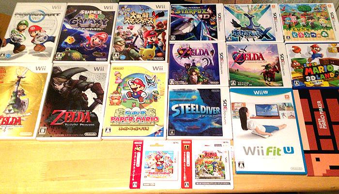 任天堂WiiUや3DSといった最近のソフトです。