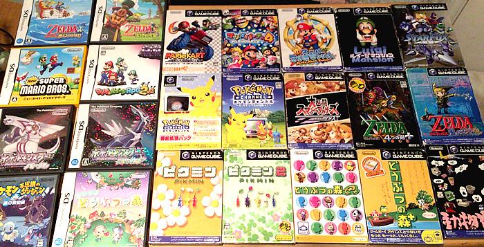 任天堂ゲームキューブやDSといった、ひと昔前のソフトです。