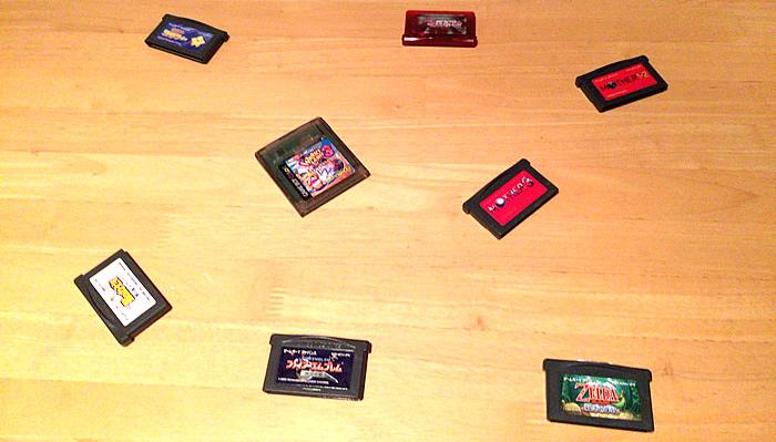 NintendoゲームボーイアドバンスやGBといった、かなり昔のソフトです。いくつか紛失してます。