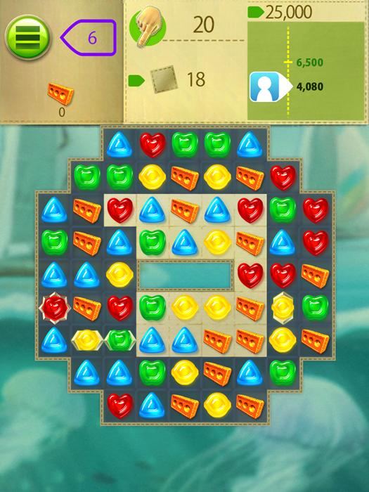 グミドロップ おすすめ無料アプリ マッチ3パズル 中毒性 ステージ画面