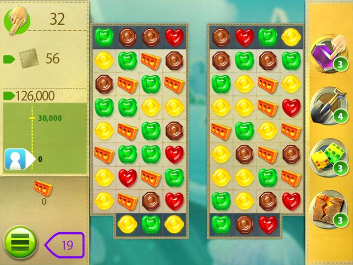 グミドロップ!のパズル画面