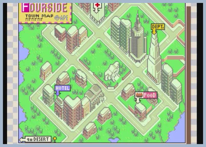 ゲーム 任天堂 MOTHER2 ギーグの逆襲 フォーサイド 街 シティ タウン