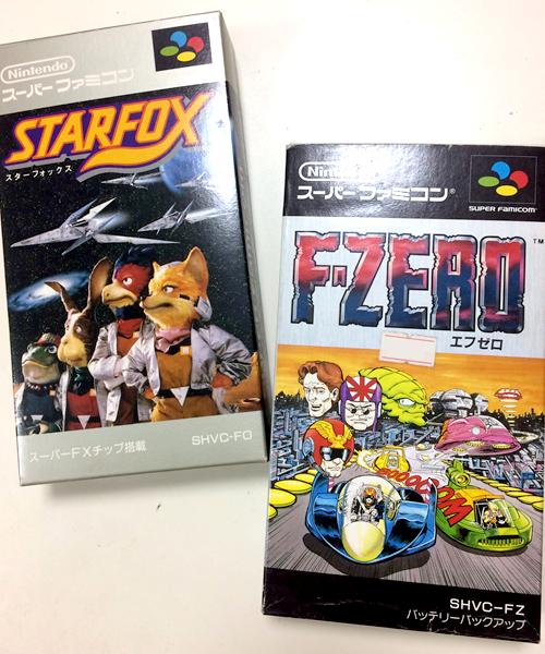 スーパーファミコン スーファミ 初代F-ZERO 初代スターフォックス ソフト カセット
