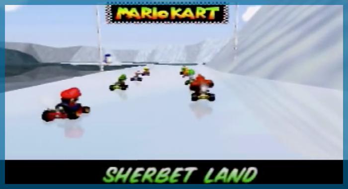 ゲーム 任天堂 音楽 冬 マリオカート64 シャーベットランド&フラッペスノーランド