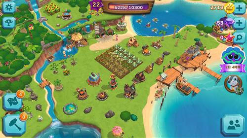 パラダイスベイの島の画面