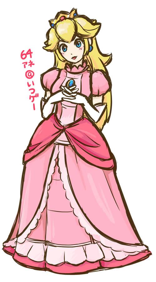 64アネが描いたピーチ姫のイラスト