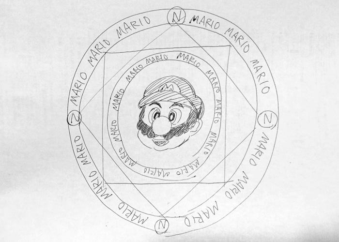 マリオの魔法陣