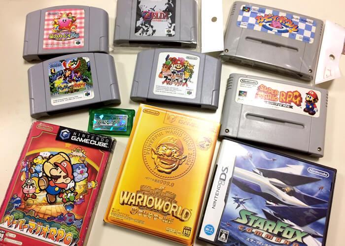 ニンテンドー64、スーファミ、ゲームキューブ、ゲームボーイアドバンス、ニンテンドーDSのソフトを買いました
