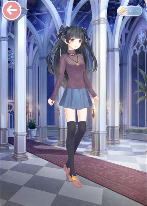 Fateの遠坂凛風の衣装・コーデをミラクルニキで作りました