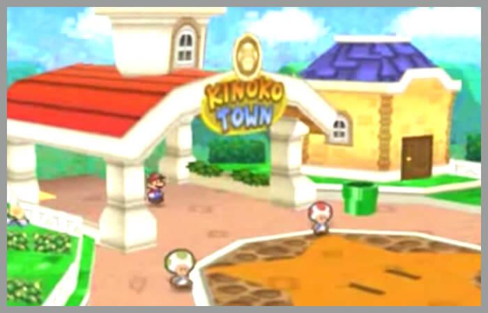 アクセス良好の町その2、マリオストーリーよりキノコタウン