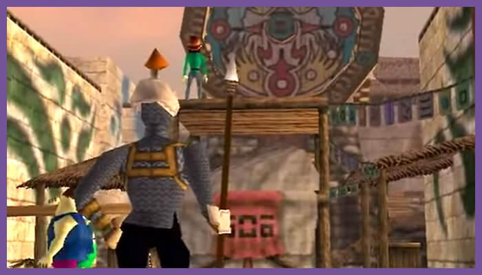 スリリングな町その2、ゼルダの伝説ムジュラの仮面よりクロックタウン