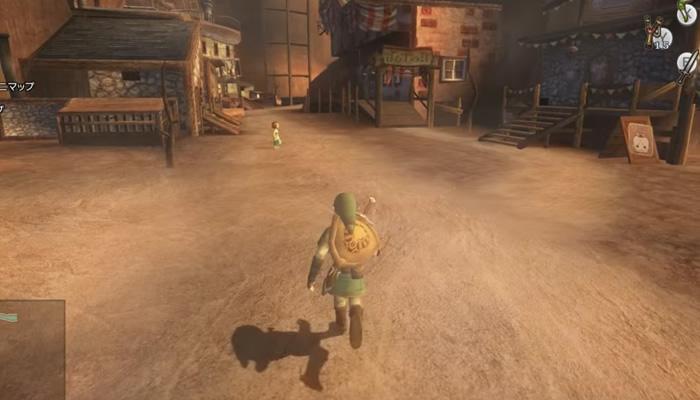 ゼルダの伝説 トワイライトプリンセスの主人公リンクが走ってる画像