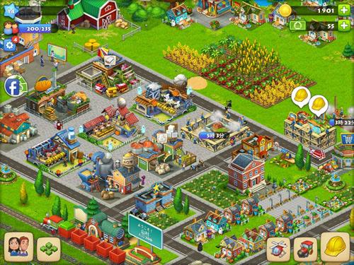 タウンシップで作った街の画面