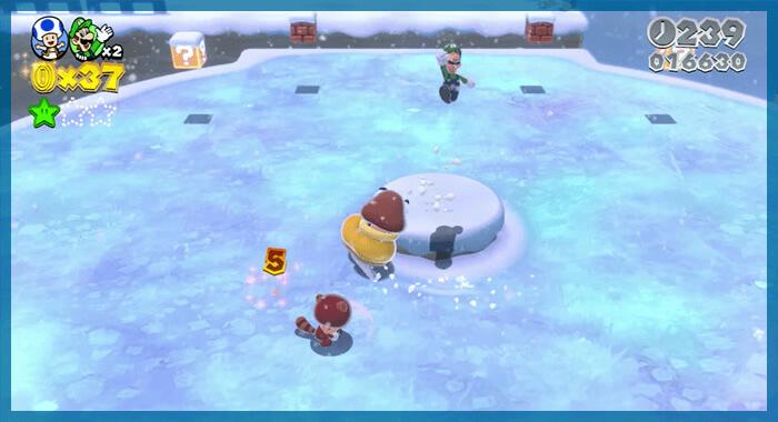 スーパーマリオ 3Dワールドよりスノーボールパーク
