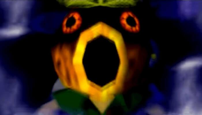 任天堂ゲームのトラウマシーン&キャラランキング6位、ゼルダの伝説 ムジュラの仮面よりお面での変身
