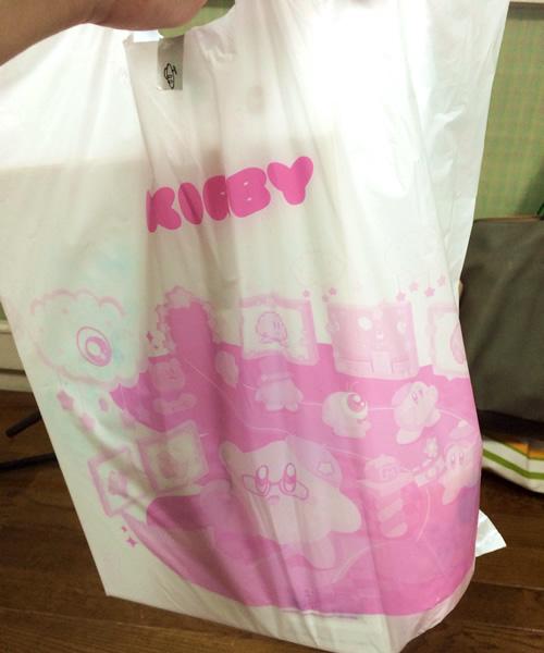 グッズを購入したらカービィのビニール袋がついてきました
