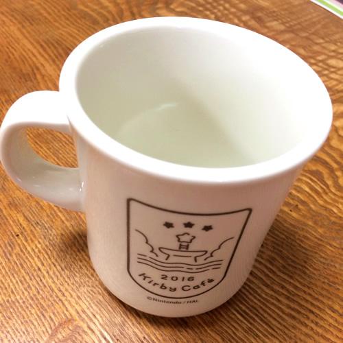 Kirby Cafeで買ったオリジナルスタイルマグカップの裏側
