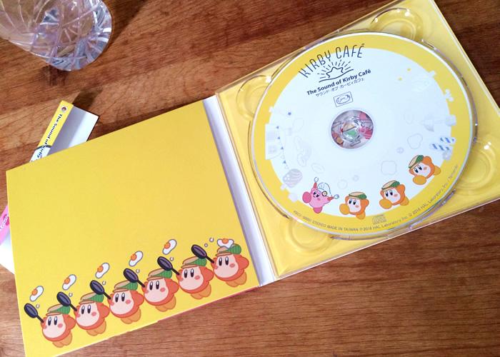 Kirby Cafeで買ったThe Sound of Kirby Café/サウンド・オブ・カービィカフェのディスクCD