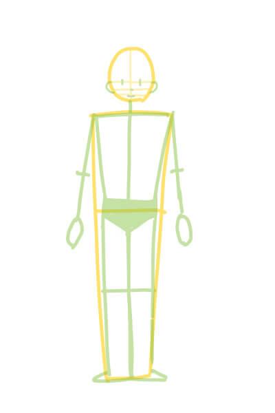 カンタンに絵が上達する、体の描き方2(スマブラのピットくん)