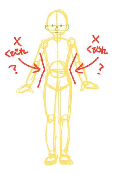 男女の違いがわからない、下手くそな素体の描き方(スマブラのピットくん)