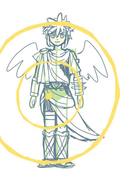 カンタンに絵が上達する、脚の描き方1(スマブラのピットくん)