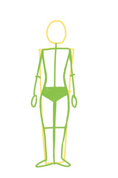 カンタンに絵が上達する、男女の体の描き分け。女性の体の描き方
